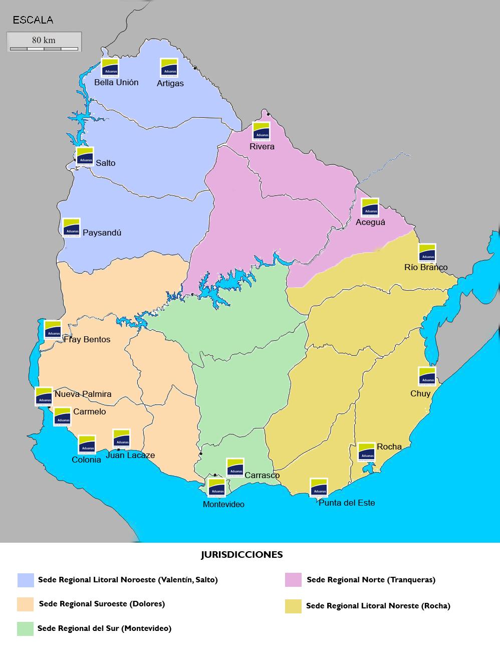 mapa aduanero